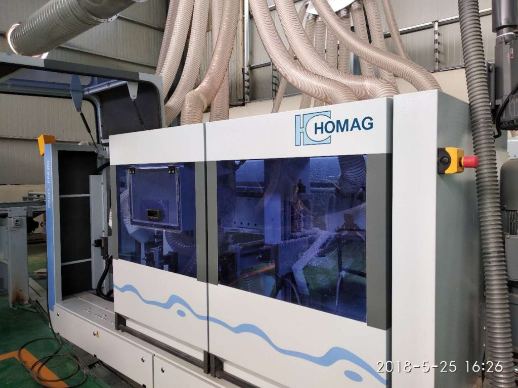 SPC flooring production line homag